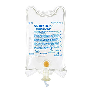 5% Dextrose Injection, USP 500mL Bag
