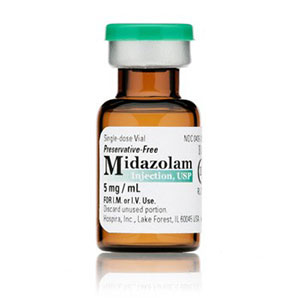 Midazolam Injection, USP 5mg/mL 1mL Vial