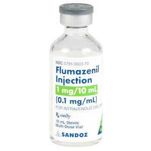 Flumazenil Injection, USP 1mg/10mL (0.1 mg/mL) Vial