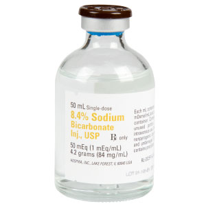 8.4% Sodium Bicarbonate Injection., USP 50mEq (1mEq/mL) 50mL Vial