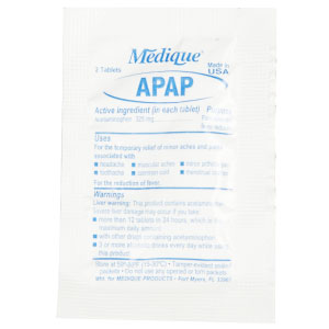 APAP Acetaminophen 325mg 2 Tablet