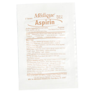 Aspirin (NSAID) 325mg 2 Tablet