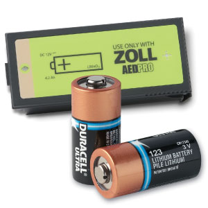 AED, Zoll Battery Type 123 Lithium 10/Pk