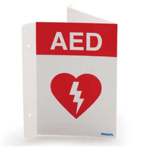 AED, Triangular Wall Sign