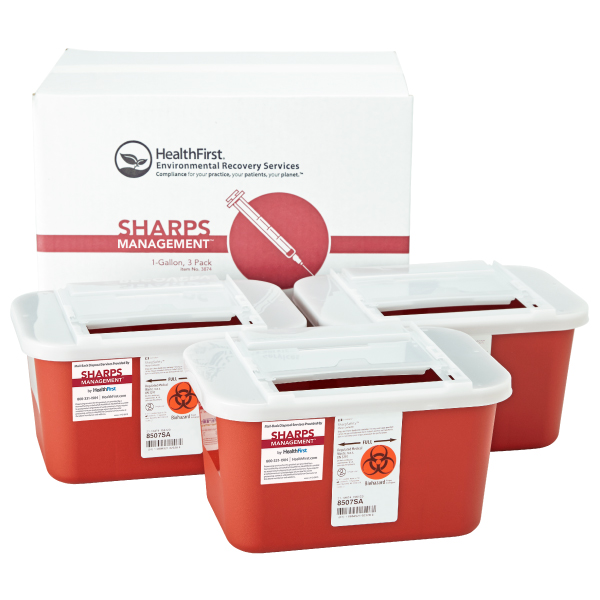 Sharps, 1 Gal 3Pk Sharps Management