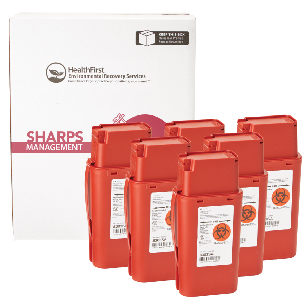 Sharps, 1 Quart 6 Pack
