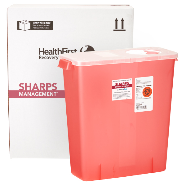 Sharps, 3 Gallon Medical Waste Management (USPS)