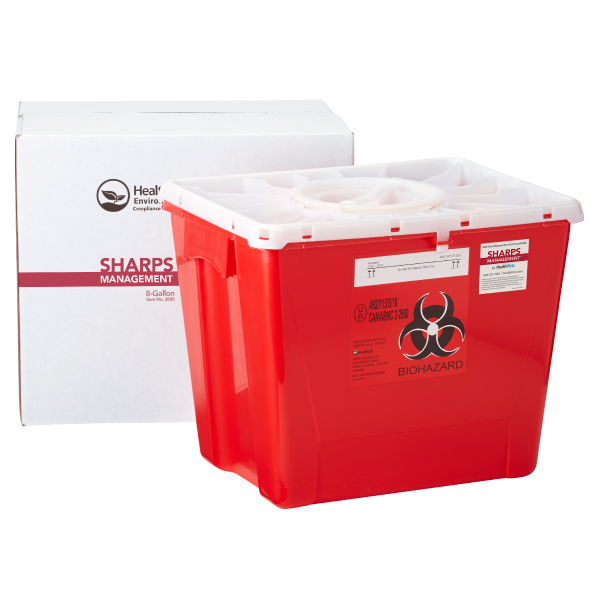 Sharps, 8 Gallon Medical Waste Management (USPS)
