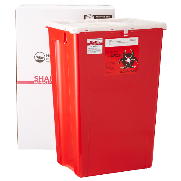Sharps, 18 Gallon Medical Waste Management (USPS)
