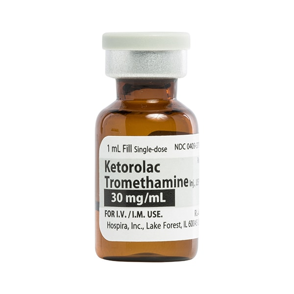 Ketorolac Tromethamine Inj., USP 30mg/mL 1mL Vial