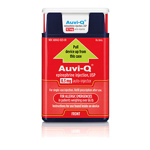 Auvi-Q®  Epinephrine Injection, USP 0.3mg Auto Injector