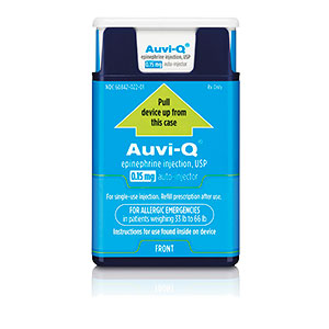 Auvi-Q®  Epinephrine Injection, USP 0.15mg Auto Injector