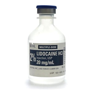 2% Lidocaine HCI Injection, USP 1000mg/50mL (20mg/mL) 50mL vial