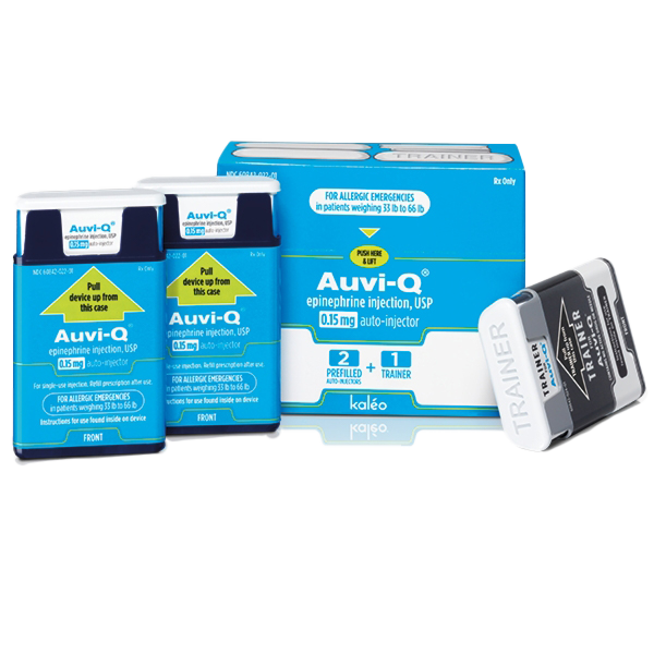 AUVI-Q® Epinephrine Injection, USP 0.15mg 2-Pack Auto-Injector