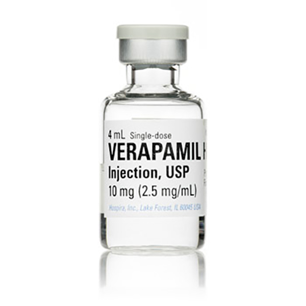 Verapamil Hydrochloride Injection, USP, (2.5 mg/mL 4mL Vial