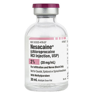 Nesacaine(R) (Chloroprocaine HCl Injection, USP) 2% (600mg per 30mL) (20mg per mL) 30mL Vial