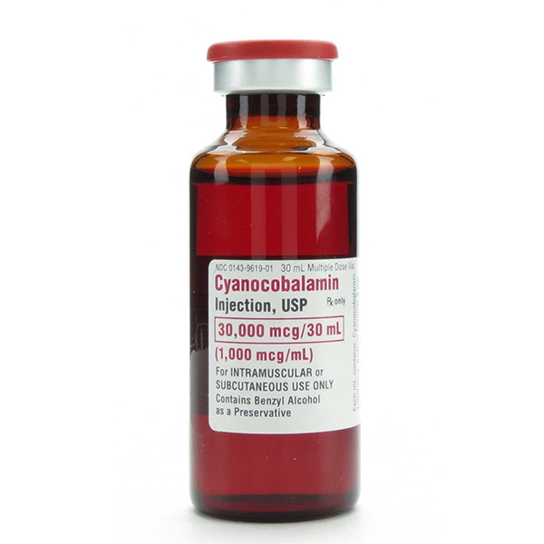 Cyanocobalamin Injection, USP 30000 Mcg/30 mL (1000 Mcg/mL) 30 mL Vial