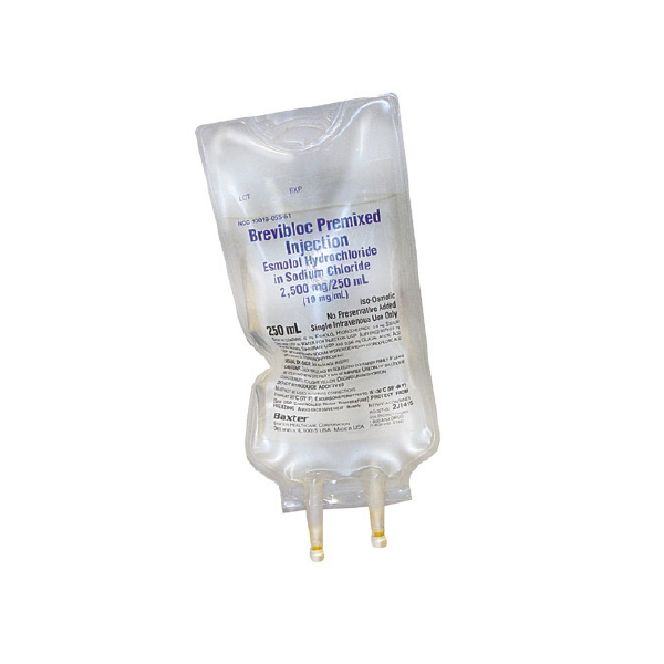 Brevibloc Premixed Injection Esmolol Hydrochloride In Sodium Chloride 2,500mg/250mL (10mg/mL) 250mL Bag