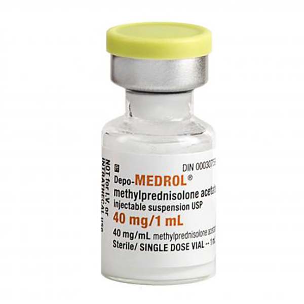 Methylprednisolone Acetate Injectable Suspension USP 40mg/mL, 1mL Vial