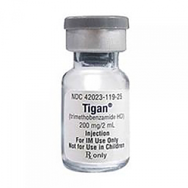 Tigan(R) (Trimethobenzamide Hydrochloride) Injection 200mg/2mL (100mg/mL) 2mL Vial