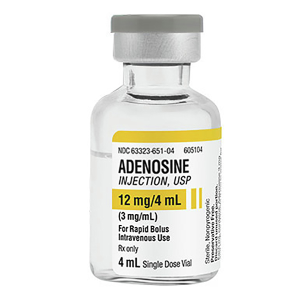 Adenosine Injection, USP 12mg/4mL (3mg/mL) 4mL Vial
