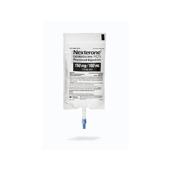 Nexterone (Amiodarone HCl) Premixed Injection 150mg/100mL (1.5mg/mL) 100mL Bag